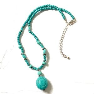 AVON Turquoise Blue Asian inspired necklace
